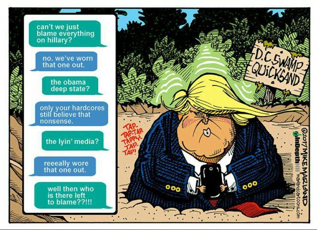 Trump quicksand